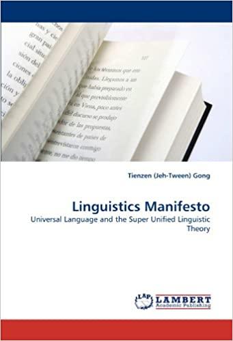 linguistics Manifesto
